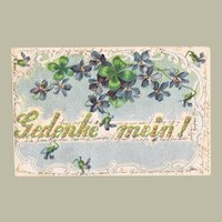 Romantic Embossed vintage Postcard Remember Me!