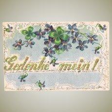 Romantic Embossed vintage Postcard Remember Me!