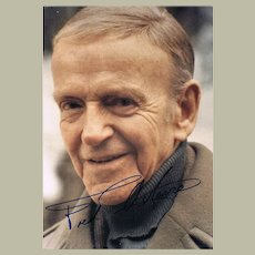 Fred Astaire Autograph on Portrait Photo. CoA