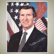 William Cohen – US Minister for Defence. Authentic Autograph on 8 x 10 Photo