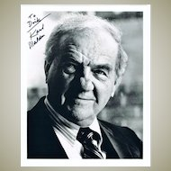 Karl Malden Autograph on 8 x 10 Photo. CoA