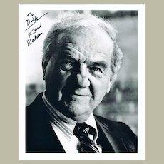Karl Malden Autograph on 8 x 10 Photo. CoA