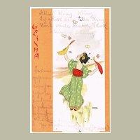 Raphael Kirchner  Postcard Geisha 1900