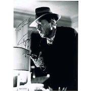 Robert Mitchum Autograph on Photo. CoA