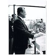 Willy Brandt Autograph: Hand-signed Press Photo. CoA