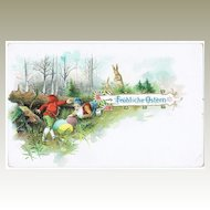 Happy Easter Antique Lithographed Postcard