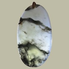 Chinese Pendant Semi Transparent Stone