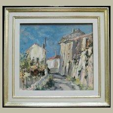 Wolfgang Lämmle Painting. Painter of the light. Italian Mountain Village