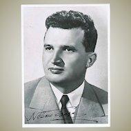 Nicolae Ceausescu Autograph on Portrait Photo. CoA