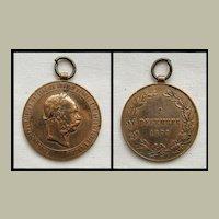 Signum Memoriae Bronze Medal Franz Josef I Austria 1898
