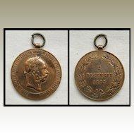 1898 Signum Memoriae Bronze Medal Franz Josef I Austria