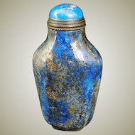 Chinese Lapis Lazui Snuff Bottle