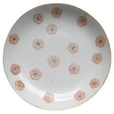 Pair of Qing Dynasty Dishes, Flower Motif
