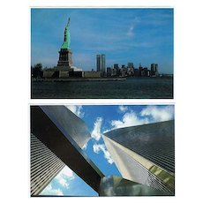 Five Twin Towers vintage Postcards - Red Tag Sale Item
