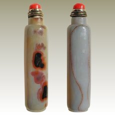 Old Agate Snuff Bottle, slim Shape
