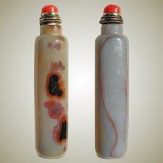 Old Agate Snuff Bottle, slim Shape