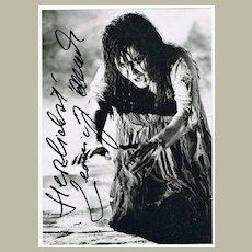 Soprano Leonie Rysanek Autograph. COA