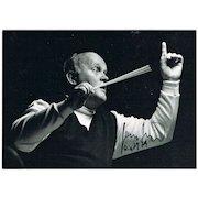 Conductor Horst Stein Autograph, CoA