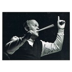 Conductor Horst Stein Autograph, CoA