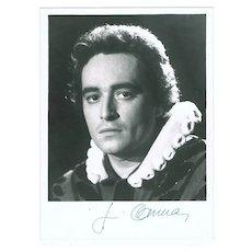 Jose Carreras Autograph on 7 x 9,5 Photo, CoA