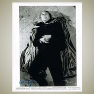Christopher Lee Autograph on 8 x 10 Photo
