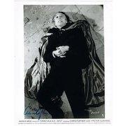 Christopher Lee Autograph on 8 x 10 Photo