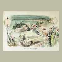 Mercedes Benz 300 S. Old Advertising Postcard