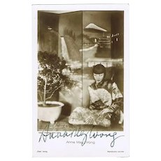 Anna May Wong Autograph on Ross Photo. CoA