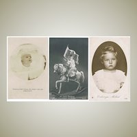 Emperor and member of German Imperial Families as Children 1907 - 1918