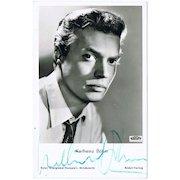 Karlheinz Boehm Autograph –Ruedel Film