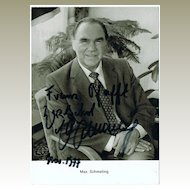 Max Schmeling Autograph on b/w Photo, CoA