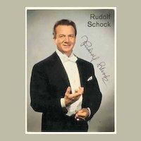 Rudolf Schock Autograph. 1960s. CoA