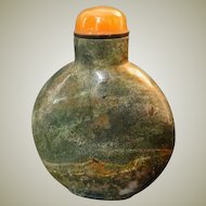 Old Moss Agate Snuff Bottle with nice Structure