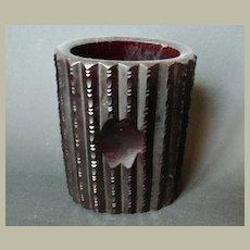 Austrian Biedermeier Red Glass Vase 19 Ct.