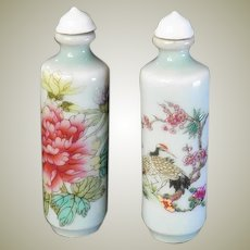 Pair of old Chinese Porcelain Snuff Bottles
