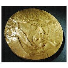 Vincent van Gogh Bronze Plaque, Artist signed