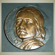 Philippe de Champaigne Bronze Plaque, Artist signed