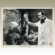 Peter Cushing Autograph on 10 x 8 Photo