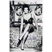 Sophia Loren Autograph: Sex Idol of the 60s. CoA