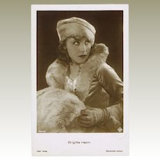 Brigitte Helm Photo Postcard.