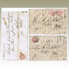 Imperial Austria, 3 Letters 1860s