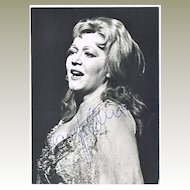 Soprano Sena Jurinac  Autograph on Photo, CoA