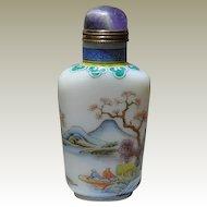 Old enameled Porcelain Snuff Bottle