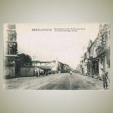 Old Singapore Postcard South Bridge Road