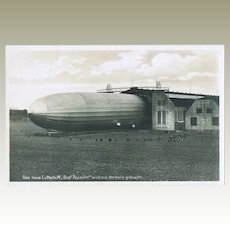 Old Airship Zeppelin Photo Postcard