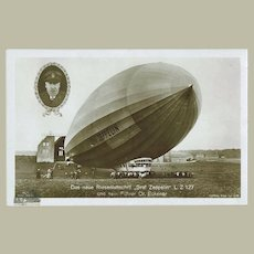 Zeppelin Photo Postcard LZ 127