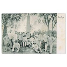 German Soldiers in Langfang, China, Boxer Uprise Postcard