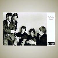 Scarce early Rolling Stones Decca Postcard
