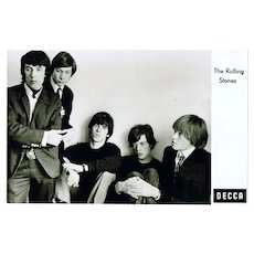 Scarce early Rolling Stones Decca Postcard