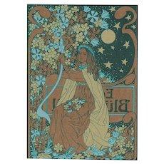 Art Nouveau Postcard, Trading Card